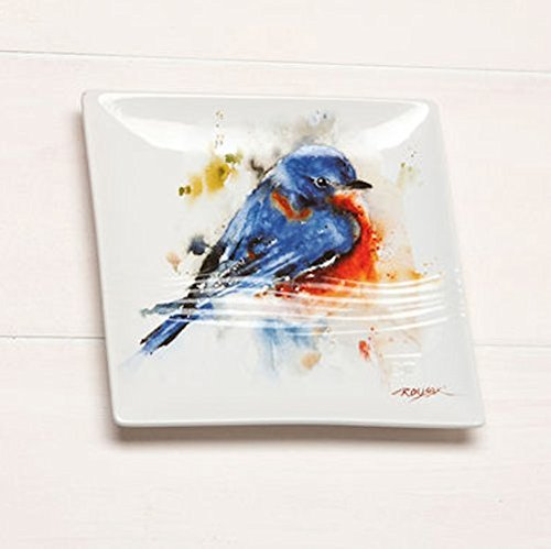 Big Sky Carvers Bluebird Stoneware Snack Plate (Detail Carver compare prices)
