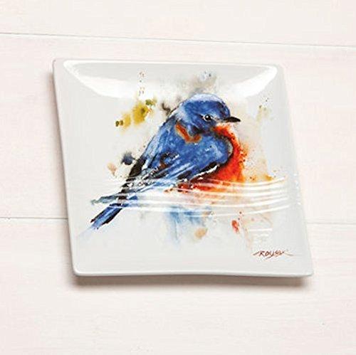 Big Sky Carvers Bluebird Stoneware Snack Plate (Detail Carver compare prices)