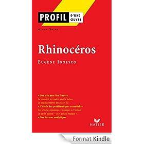 Profil - Ionesco (Eug�ne) : Rhinoc�ros:Analyse litt�raire de l'oeuvre