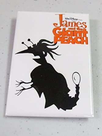 Vintage Movie Button James and the Giant Peach Glow Worm