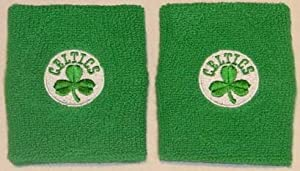 For Barefeet NBA Team Wristbands Pair Boston Celtics by Unique Sports