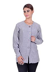 eWools Women's Grey Wool Sweater (772-eWools-Medium)