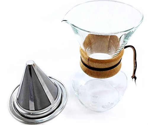How To Use Non Electric Coffee Maker : Zone - 365 Non-Electric Coffee Maker Pour Over Dripper with Stainless Steel Reusable Mesh Filter ...