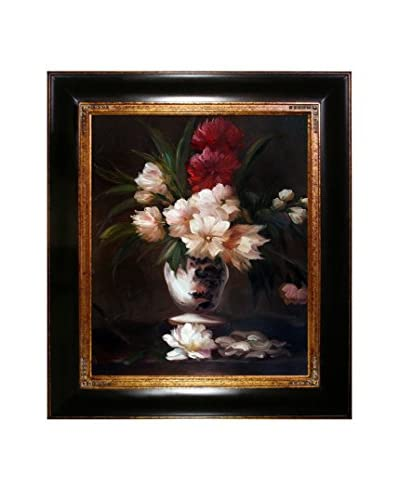 "Édouard Manet ""Peonies In A Vase"" Framed Hand-Painted Oil Reproduction"