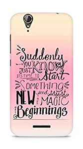 AMEZ start something new and the magic begins Back Cover For Acer Z630S