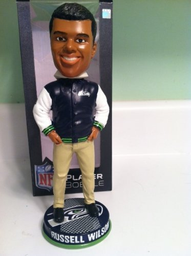 Russell Wilson Seattle Seahawks Varsity Jacket Bobblehead Special Edition at Amazon.com