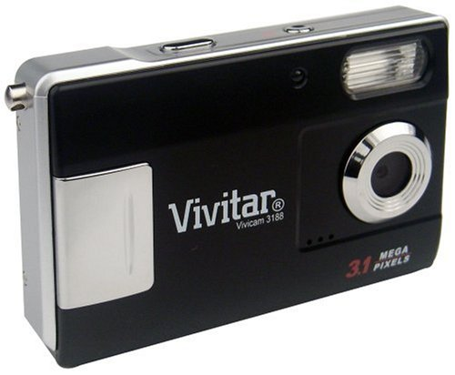 Vivitar Vivicam-3188 3.1Mp Camera With Red-Eye Reduction And 1.5-Inch Lcd