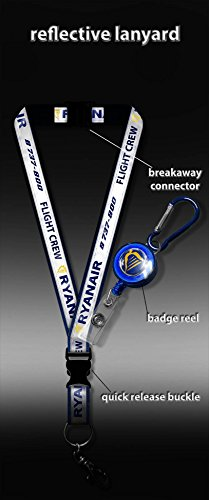ryanair-reflectante-flight-crew-lanyard-badge-reel
