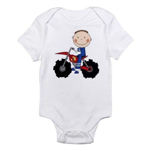 CafePress Motocross Racing Blue Infant Bodysuit - 0-3M Cloud White