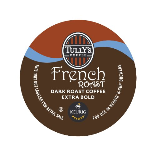 Tully's Coffee French Roast, K-Cup Portion Pack for Keurig K-Cup Brewers 24-Count