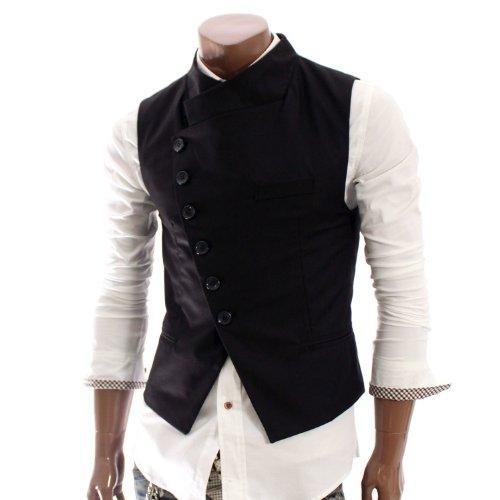 Doublju Mens Stunning Design Slim Vest (W31V)