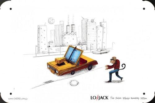 Metal Poster Tin Plate Sign of Car Security System: Rat 20*30cm