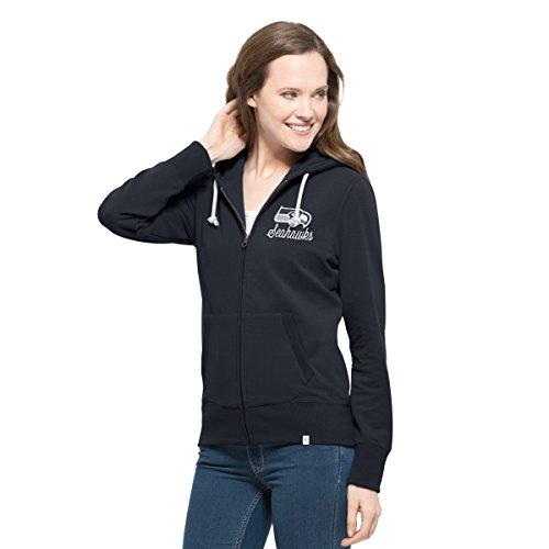 NFL Seattle Seahawks Women's 47 Cross Check Full-Zip Pullover Jacket, Small, Midnight