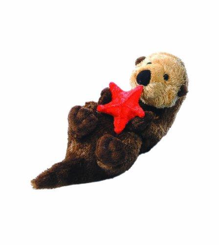 Mini Flopsie 13280 - Peluche, Lontra di mare con stella marina, 20,5 cm