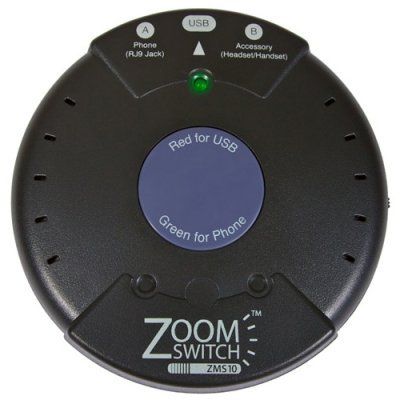 2Cy7411 - Zoomswitch Zms10 Headset Adapter For Phone And Pc