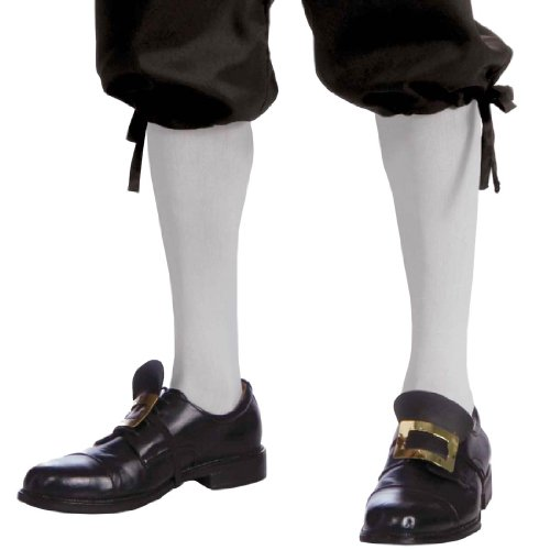 Colonial Knee High White Socks - Adult Std.