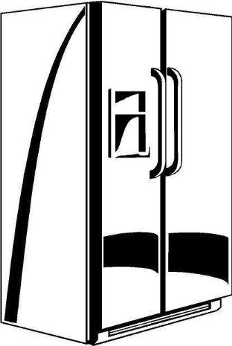 GetitStickit Kuhlschrank Symbol vinyl Aufkleber Auto Fahrzeug Fenster Zeichen Anhanger Lkw Aufkleber - 50cm Hohe - 50cm Breite - Farbe Vinyl