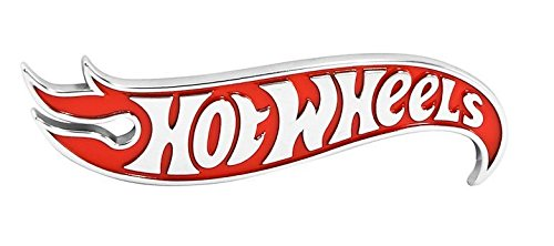 Hot Wheels Red Chrome Logo Side Fender Lid Hood Badge Decal Emblem