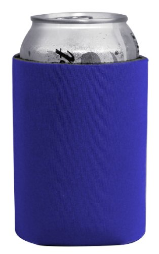 Coloful Foam Insulated Can Holder/Can Cooler/Beverage Holder/Can Chiller/Bottle Cooler, 5 Pack (Royal Blue) front-952027