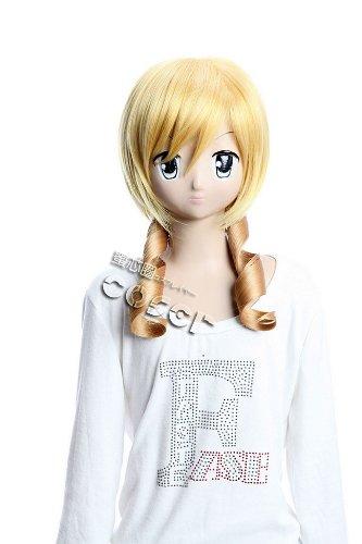 Imagen 1 de CosplayerWorld Puella Magi Madoka Magica Tomoe Mami Peluca Cosplay Anime Japones De Descuento 55cm 22inch Peluca de Cosplay Cosplay Manga