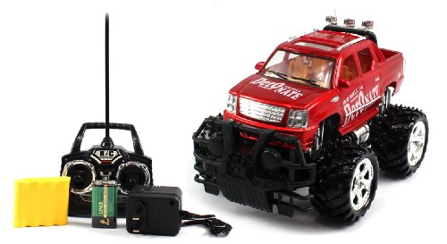 BIG SIZE RECHARGEABLE Electric Full Function 1:16 Conqueror Cadillac Escalade EXT RTR RC Truck (COLORS MAY VARY) Remote Control Monster Truck!