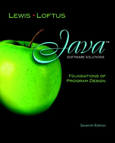 Java Software Solutions: Foundations of Program Design...