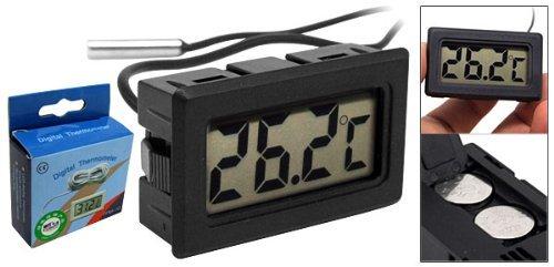 Amico Mini LCD Kühlschrank Gefrierfach Kühlschrank digitales Thermometer Schwarz