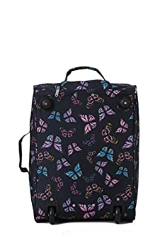 """5 Cities Carry On Wheeled Travel Trolley Bag 21"""" Lightweight Hand Luggage/ On Board Cabin Rolling Luggage Bags"""