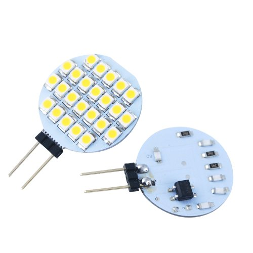 Jambo 10 Pc Car Auto Led Lamps G4 3528 24 Smd Day White Dc 12V G4 Corn Light Replacement For Rv Camper Trailer Boat