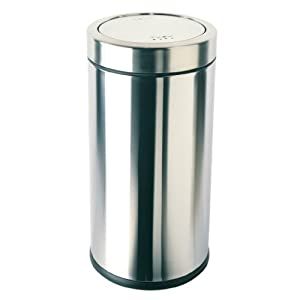 simplehuman swing top trash can commercial grade stainless steel 55 l 14 5 gal. Black Bedroom Furniture Sets. Home Design Ideas