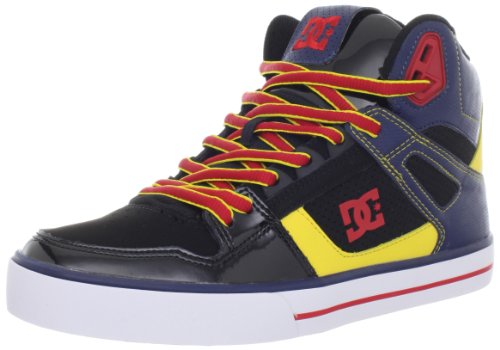 DC Men's Spartan Hi WC Fashion Sneaker,DC Navy/Athletic Red,8 M US