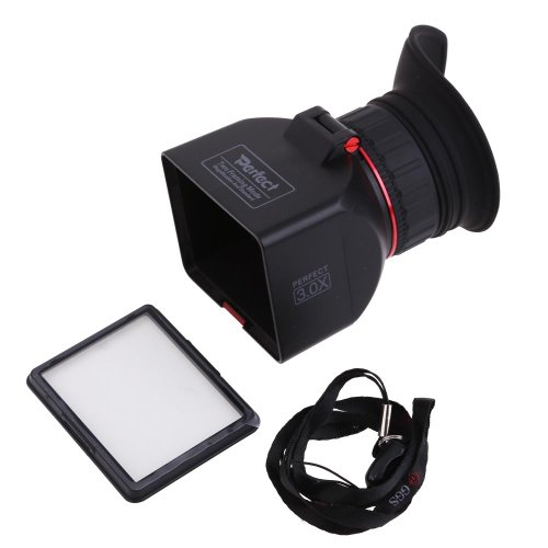 Vktech Ggs 3.0 Inch Lcd Foldable 3.0X Viewfinder Screen Magnifier For Canon Nikon