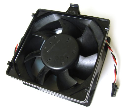 Dell 6985R CPU Case Cooling Fan for Dimension 8100, Optiplex GX400, and PWS 330 530 560. Model NMB 3610KL-04W-B66 fits Datech 0925-12HBTA, and replaces Dell P/N#: 6985R, 929FF, 21KTM. Genuine Dell Replacement 92x92x25mm.