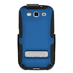 Seidio BD2-HK3SSGS3K-RB ACTIVE Case with Metal Kickstand and Holster Combo for Samsung Galaxy S III - Combo Pack - Retail Packaging - Royal Blue