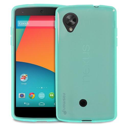 Fosmon DURA-CANDY Series Ultra Slim Flexible TPU Case Cover for Google Nexus 5 - Fosmon Retail Packaging (Blue)