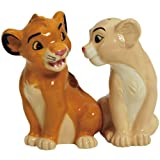 Westland Giftware Simba and Nala Magnetic Ceramic Salt and Pepper Shaker Set, 3.25-Inch