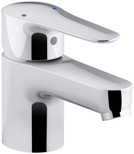 KOHLER K-16027-4-CP July Single Handle Bathroom Sink Faucet, Polished Chrome