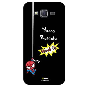 Hamee Marvel Samsung Galaxy J5 Case Cover Cute Spider Man Mind It Black