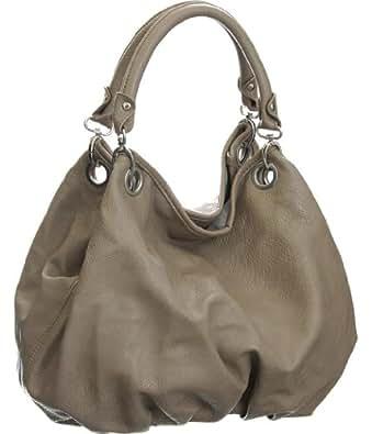 Grey Large ''Brianna'' Vitalio Vera Bag