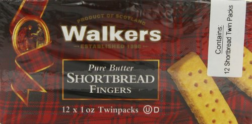 Walkers Shortbread Fingers, (12 x 1 oz Twinpacks), Pack of 2 (Walkers Bread compare prices)