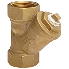 "Flexicraft YBT Bronze Wye Strainer with Thread End, 1-1/4"" ID x 5-5/16"" Length"