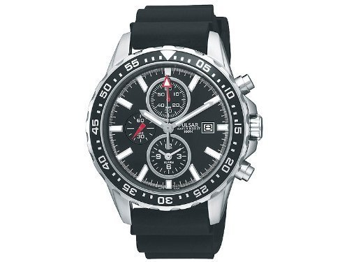 Pulsar Men's Black Dial Watch PF3949X1