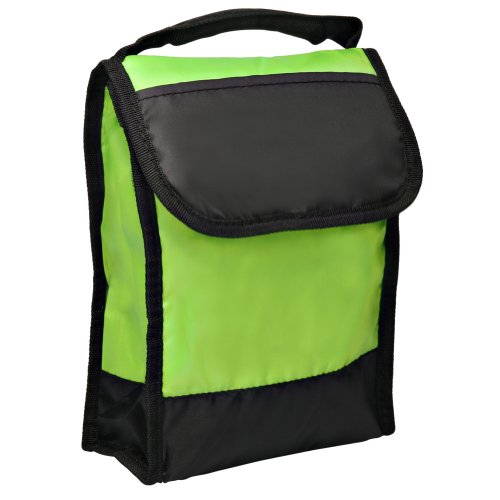 Lunch Cooler Bag with Clear Id Pocket on Back Folds Flat for Storage, Lime by BAGS FOR LESSTM - 1