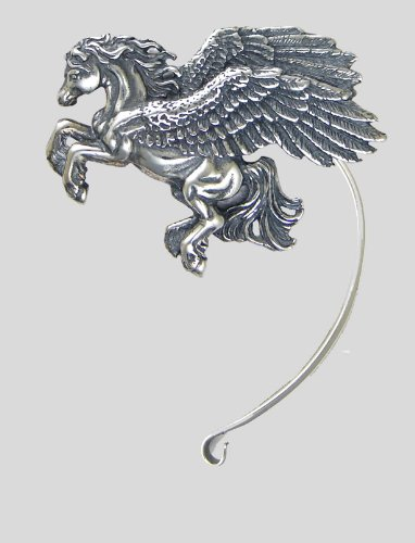 A Magnificent Pegasus Ear Wrap in Sterling Silver. Why Be Ordinary? This Fits the Left Ear.