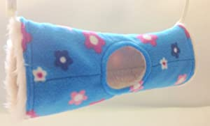 WuffywearTunnel Tube Rat Ferret Toy, Rat Ferret Toy, Luxury Blue Flowered