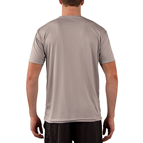 Vapor Apparel Men's Solar Performance UPF Short Sleeve T-Shirt Large Athletic Grey