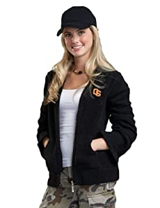 NCAA Oregon State University Kashwere U Full-Zip Hoodie (Black, Large 8-10) by Kashwere U