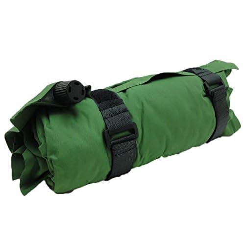 【パンダファミリー】 空気枕 エアクッション エアー枕 エアーピロー 空気入れ 収納袋 旅行 キャンプ 全12色 グリーン