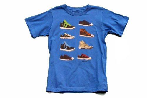 Converse Boy'S Chuck Taylor Sneakers Short Sleeve T-Shirt (6, Electric Blue)
