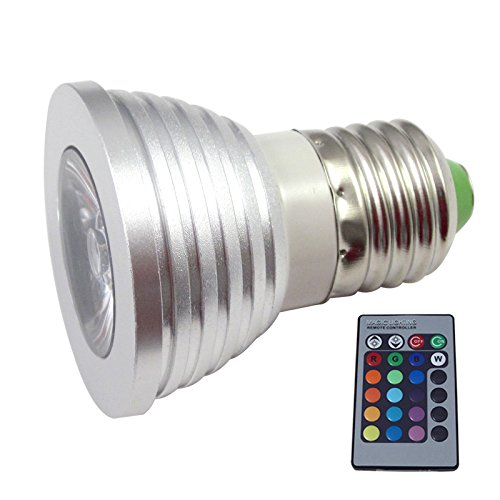 S6Store® 3W Rgb E27 16 Colors Changing Remote Control Holiday Flash Party Led Spot Downlight Christmas